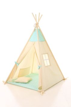 Kids teepee pillow play tent wigwam children's teepee by letterlyy