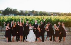 Wedding in wine country.