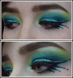 peacock makeup hair make up pinterest peacock costume fantasy makeup and best friends. Black Bedroom Furniture Sets. Home Design Ideas