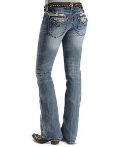 Miss Me Jeans #Miss_Me_Jeans #fashion #blue_jeans #love Miss Me Jeans - Embellished Wing Applique Slim Fit