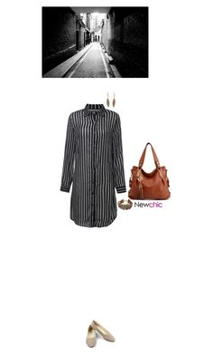 """Newchic style - shirt dress"" by blueeyed-dreamer ❤ liked on Polyvore featuring newchic"