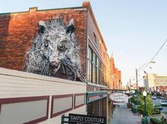Street Artists Transformed Arkansas City Into Stunning Outdoor Art Gallery Animal Sculptures, Lion Sculpture, Transformers, Arkansas City, Just Kids, Trash Art, Fort Smith, Colossal Art, Outdoor Art