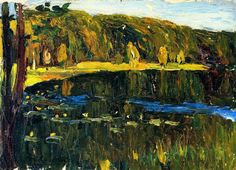 Wassily Kandinsky (1866-1944) - Achtyrka - Dunkler Lake, 1901, Lenbachhaus Gallery, Munich, Germany