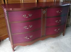 Merlot Vintage Chest of Drawers .PAINT to ORDER. $750.00, via Etsy.