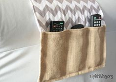 DIY Remote Control holder.. Perfect for the side of the bed tucked under mattress..