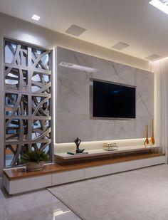 K in 2019 tv wall design, tv wall decor, tv decor. Modern Tv Room, Modern Tv Wall Units, Tv Console Modern, Tv Unit Decor, Tv Wall Decor, Wall Decorations, Wall Tv, Kitchen Wall Panels, Living Room Tv Unit Designs