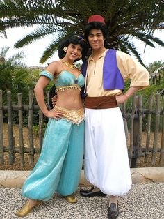 Aladdin and Princess Jasmine - The 8 Most Adored Disney Couples to Meet on Valentine's Day at the Disney Parks.