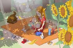 Lucas, Claus, Hinawa and Boney in a picnic. It's too cute but sad at the same time (sad because i miss Hinawa) ❤.