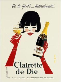 Clairette de Die - 1970 - illustration de Alain Gauthier -