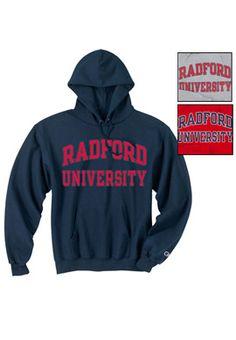 Product: Radford University Hooded Sweatshirt.  On chilly days, there's nothing like a Radford University sweatshirt to keep you warm.