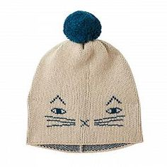 Mog Hat Oatmeal by Donna Wilson. lambswool, made in UK Made In Uk, Christmas Mood, Cute Hats, Winter Accessories, Little People, Beanie Hats, New Product, Big Kids, Kids Toys