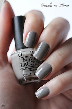 OPI French Quarter for Your Thoughts. Glam Nails, Opi Nails, Nail Manicure, Beauty Nails, Gorgeous Nails, Pretty Nails, Grey Nail Art, Opi Nail Colors, Nail Polish Art
