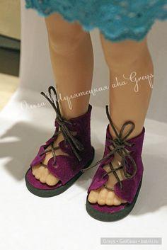 Кукольные сандалии в греческом стиле, которые не нужно шить / Мастер-классы, творческая мастерская: уроки, схемы, выкройки кукол, своими руками / Бэйбики. Куклы фото. Одежда для кукол