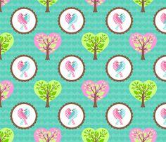 TWEEThearts fabric by mytinystar on Spoonflower - custom fabric