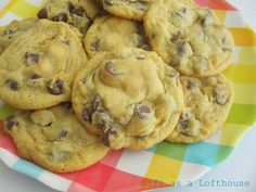 Chocolate Chip Pudding Cookies  Yields 36 cookies          1 cup (2 sticks) Butter, softened  3/4 cup Brown Sugar  1/4 cup White Sugar  1 small pkg Instant Vanilla Pudding mix  2 eggs  1 teaspoon Vanilla Extract  2 1/4 cups All-Purpose Flour  1 teaspoon Baking Soda  1 pkg ( 12 oz) Milk Chocolate Chips          DIRECTIONS:  Preheat oven to 375 degrees. Beat the butter, both sugars, pudding mix, eggs and vanilla in a large bowl. Beat until creamy and fluffy. Then slowly mix in flour and baking…