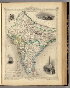 Old map of india