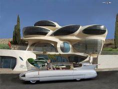 futuristic free-shaped structure by Architect Ephraim-Henry Pavie ( http://pavie.com ).
