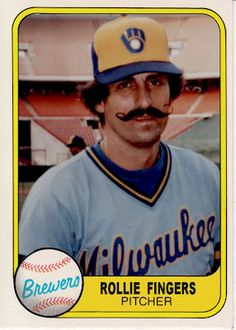 1981 Fleer Rollie Fingers, Milwaukee Brewers, Baseball Cards That Never Were.