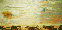 Bernard Chaet (Rockport, MA) + Yale Islands, 2007 oil on canvas, 24 x 48 inches