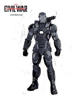 "Captain America: Civil War ""War Machine"" by Ben McLeod Marvel Comics Art, Avengers Comics, Marvel Heroes, Iron Heart Marvel, Iron Man Avengers, Iron Man Suit, Iron Man Armor, Tony Stark, War Machine Iron Man"