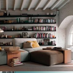 My ideal home is your daily source of interior design, architecture, home ideas and interior inspirations. Style At Home, Masculine Interior, Comfy Sofa, Home Libraries, Deco Design, Home And Deco, Interior Design Inspiration, Attic Inspiration, Interiores Design