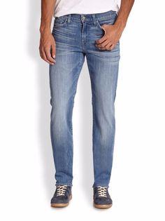 "Seven 7 for All Mankind ""Slimmy"" Slim Straight Leg Men's Jeans 31 34 NWT $208 #7ForAllMankind #SlimStraight"