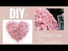 DIY roses from napkins easy & inexpensive perfect for Mother's Day, Valentine's Day or f Diy Rose, Embroidered Towels, All Flowers, Valentine Day Crafts, Diy Party, Stampin Up, Diy And Crafts, Napkins, Easy