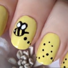 Really cute and one of the first nail art designs I ever tried. Very easy and you can do this with a Bobby pin