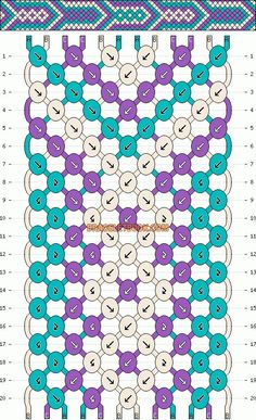 Normal friendship bracelet pattern added by mikkomix. Floss Bracelets, Woven Bracelets, Ankle Bracelets, Diamond Bracelets, Pandora Bracelets, Bangles, Kumihimo Bracelet, Bracelet Crafts, String Bracelet Patterns