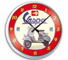 Vespa wall clock Vespa scooter merchandising vintage clock
