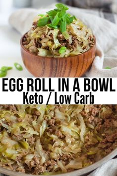 A delicious Chinese food option if youre on the keto diet! Easy, quick and simple to throw together made using Braggs am Eggroll In A Bowl, Egg And Grapefruit Diet, Pots, Egg Diet Plan, Crack Slaw, Boiled Egg Diet, Boiled Eggs, Peanut Butter Fat Bombs, Egg Rolls