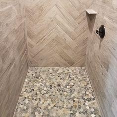 Bathrooms & Showers - Pebble Tile Shop Pebble Tile Shower, Shower Floor Tile, Shower Pics, Stone Tiles, Master Bath, Showers, Bathrooms, Shop, Bath