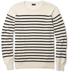 J.CrewUstica Striped Cotton Sweater