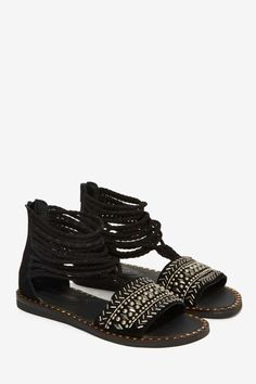 Jeffrey Campbell Junipero Suede Sandal - Shoes | Flats | Jeffrey Campbell