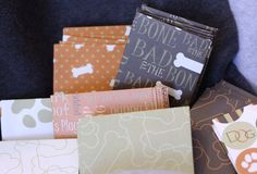 4 Dog Lover Print Gift Card or Business Card Envelopes - Choose your print $1.50