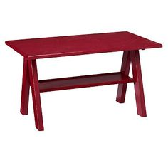 I love the Trestle Play Table, Rustic Sun Valley Red on potterybarnkids.com