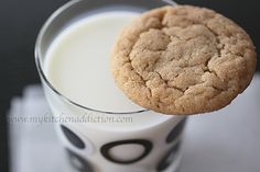 """Chewy Graham Cookies - """"These cookies are amazing on their own… Or with a glass of cold milk. Of course, you could swap the cookies for graham crackers for your campfire s'mores. Spice Cookies, Yummy Cookies, Cookies Soft, Graham Cracker Cookies, Graham Crackers, Chocolate Caramel Cookies, Chocolate Chips, Cookie Desserts, Cookie Recipes"""