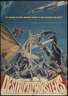 Destroy All Monsters (American International, 1969) - lots of Godzilla poster at site
