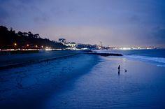 LAの西のほうにあるPacific Palisadesで撮ったものです。素晴らしい夜景ですね!