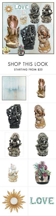 Stone Statues by era-chandok on Polyvore featuring interior, interiors, interior design, home, home decor, interior decorating, John-Richard and Jonathan Charles Fine Furniture