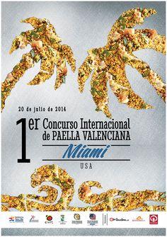 Cartel oficial del 54 Concurs Internacional de Paella Valenciana de Sueca 2014 (semifinal Miami, USA)