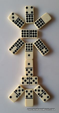 Chickenfoot is a fun way to play dominoes that has been around for many years. It's known by many different names: Chickenfoot, Chicken dominoes, Chickie or Chickie dominoes. Equipment: A set of double dominos (Double 6 or Double 9's work well) and a large flat surface. This can be relatively cheap if you use an …