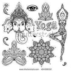 Find Set Ornamental Boho Chic Style Elements stock images in HD and millions of other royalty-free stock photos, illustrations and vectors in the Shutterstock collection. Chic Tattoo, Tattoo Style, Mandala Tattoo Design, Mandala Art, Tattoo Studio, Henna Designs, Tattoo Designs, Tattoos Phönix, Hamsa