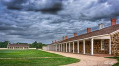 Threatening skies build over the Jr. Officer's Quarters and the Barracks at Fort Larned National Historic Site, Protector of the Santa Fe Trail, taken by Doug Kuony, 2014.  Pinned with Permission. Fort Larned #58 | Flickr - Photo Sharing!