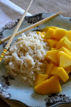 Thai Desert: Coconut Mango Sticky Rice