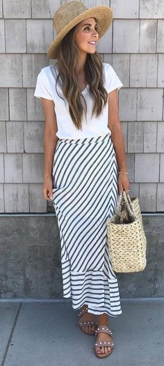 cool ootd: hat + top + mai skirt
