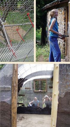 Building a ferro-cement shed