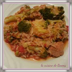 Une recette rapide et facile avec du brocoli et avec Cookeo Pour 4 pers / 5pp ou 5 sp par pers 150 gr de riz cru 2 kub'or soit un bâtonnet 1…