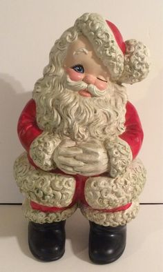 Atlantic Mold Ceramic 15 Santa Clause By Mom Painted A Like This One Brings Back Lot Of Memories