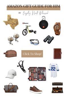 The only 2019 holiday gift guide you will need this year to find gifts for him! Find gifts for the fitness buff, the gentleman, the tech expert, and so much more! All on Amazon and for every budget. Bridal Shower Gifts, Baby Shower Gifts, Baby Gifts, Gift Guide For Him, Gifts For Him, Holiday Gift Guide, Holiday Gifts, Empty Nest Syndrome, Shop Smart